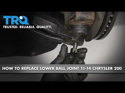 How to Replace Front Lower Ball Joint 11-14 Chrysler 200