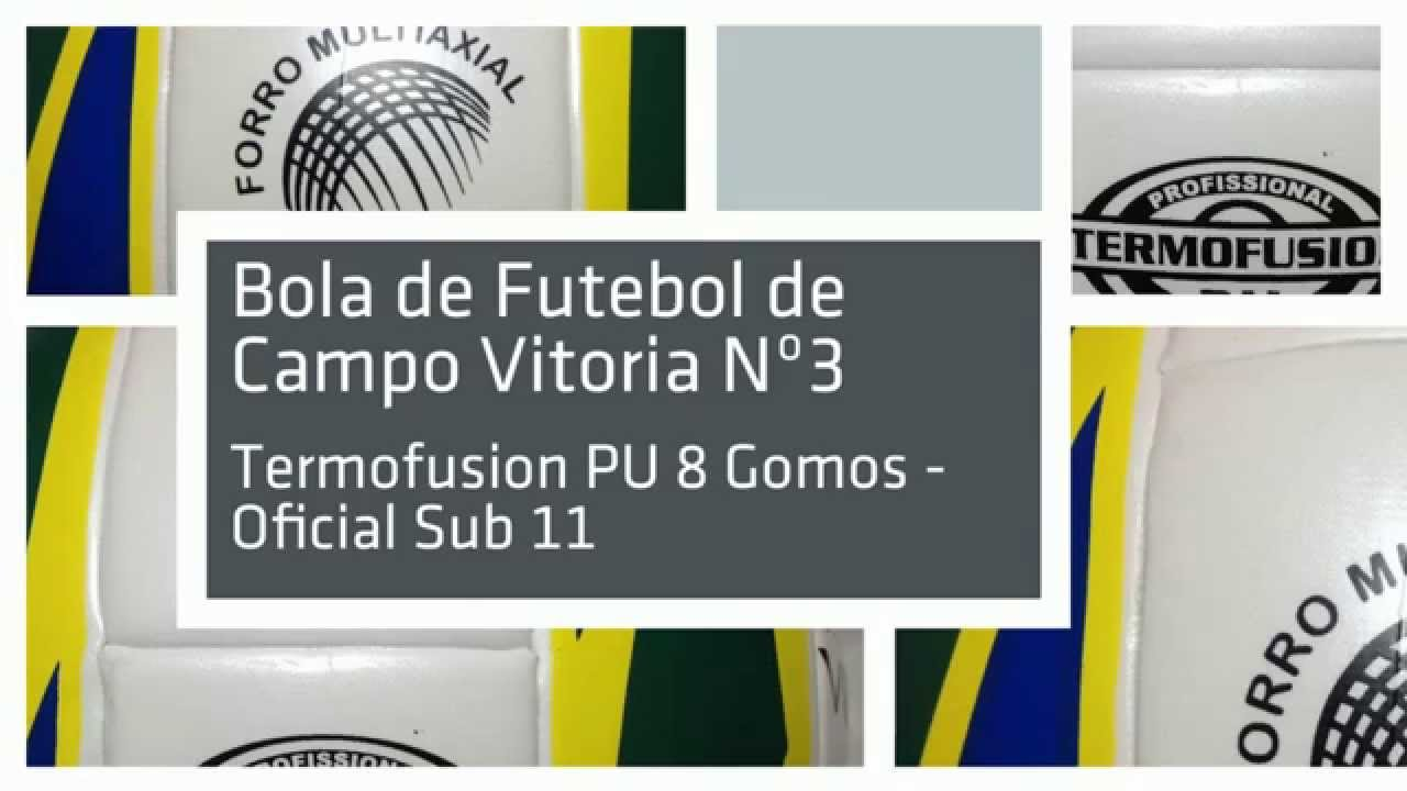 Bola Futebol de Campo Oficial Nº 3 Vitoria PU 8 Gomos - Canoas - Porto  Alegre - RS. Vitoria Esportes a273935664e55