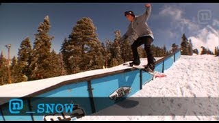 Snowboard Trick Tips: Switch Lipslide 270s With Nima Jalali