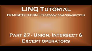 The following operators belong to Set operators category Distinct U...
