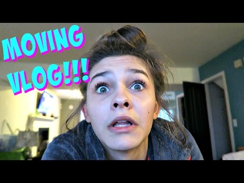 🚚 MOVING VLOG DAY 1!! 🚚 LIVING IN OUR HOUSE WITH NOTHING!?!