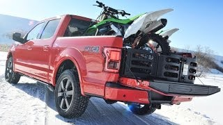 2015 Ford F-150: Cool Features, Functions, and Details - 2014 Detroit Auto Show(The lead designer of the new aluminum F-150 shows off some of its signature touches. http://bit.ly/1ajgDcN., 2014-01-23T19:15:45.000Z)