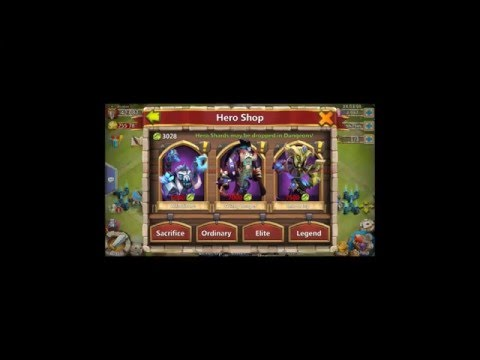 Rolling 24000 Gems Fresh Account Testing Out Immortep Rolling Trick Castle Clash