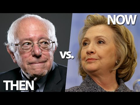 Bernie Sanders & Hillary Clinton Over The Years: Then vs. Now