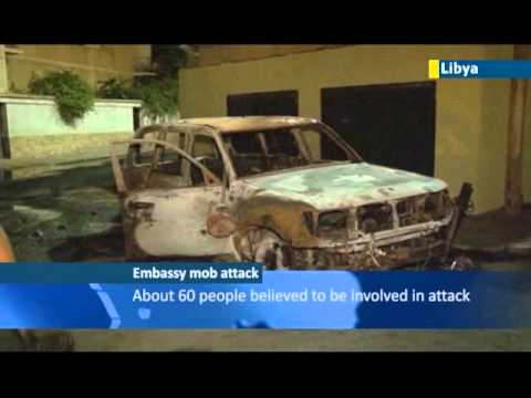 Lawless Libya Embassy Attack: Russian embassy in Tripoli attacked by heavily-armed mob