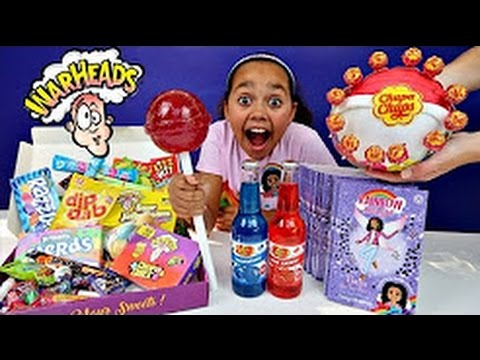 My 2nd Rainbow Magic Book Is Out! Chupa Chups Lollipops   Surprise Warheads Candy Box Celebration