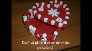 How to: heart shaped box/paper box/Quilling/ cutie inima