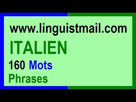 Apprendre l'italien: 160 mots et phrases pour les débutants
