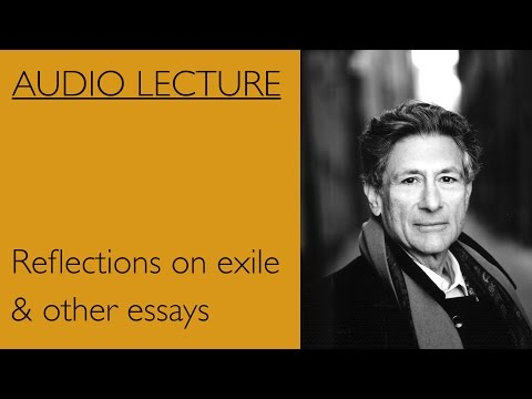 Edward Said Reflections on exile & other essays