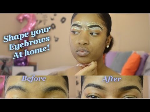 How I groom my eyebrows at home using Nair! - 2girls1channel
