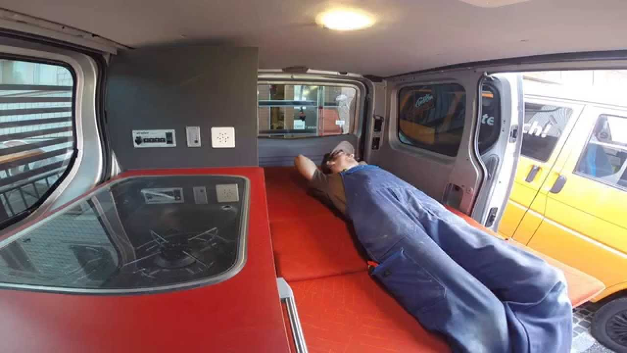 camper conversion renault trafic by custom campers youtube. Black Bedroom Furniture Sets. Home Design Ideas
