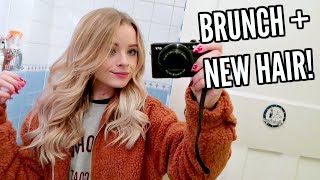 THE CUTEST BRUNCH + GETTING MY HAIR DYED AND CUT!! | sophdoesvlogs