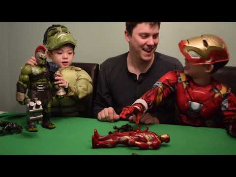 Marvel Interactive Hulk and Electronic Iron Man Reviews with 3 year old twins