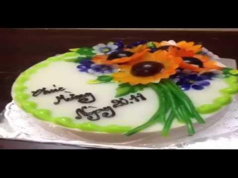 Cách làm thạch rau câu hoa nổi 3D- jelly flower 3D agar