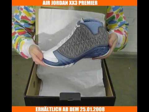 c6dc9b67f7b72a AIR JORDAN XX3 PREMIER white titanium university-blue - YouTube