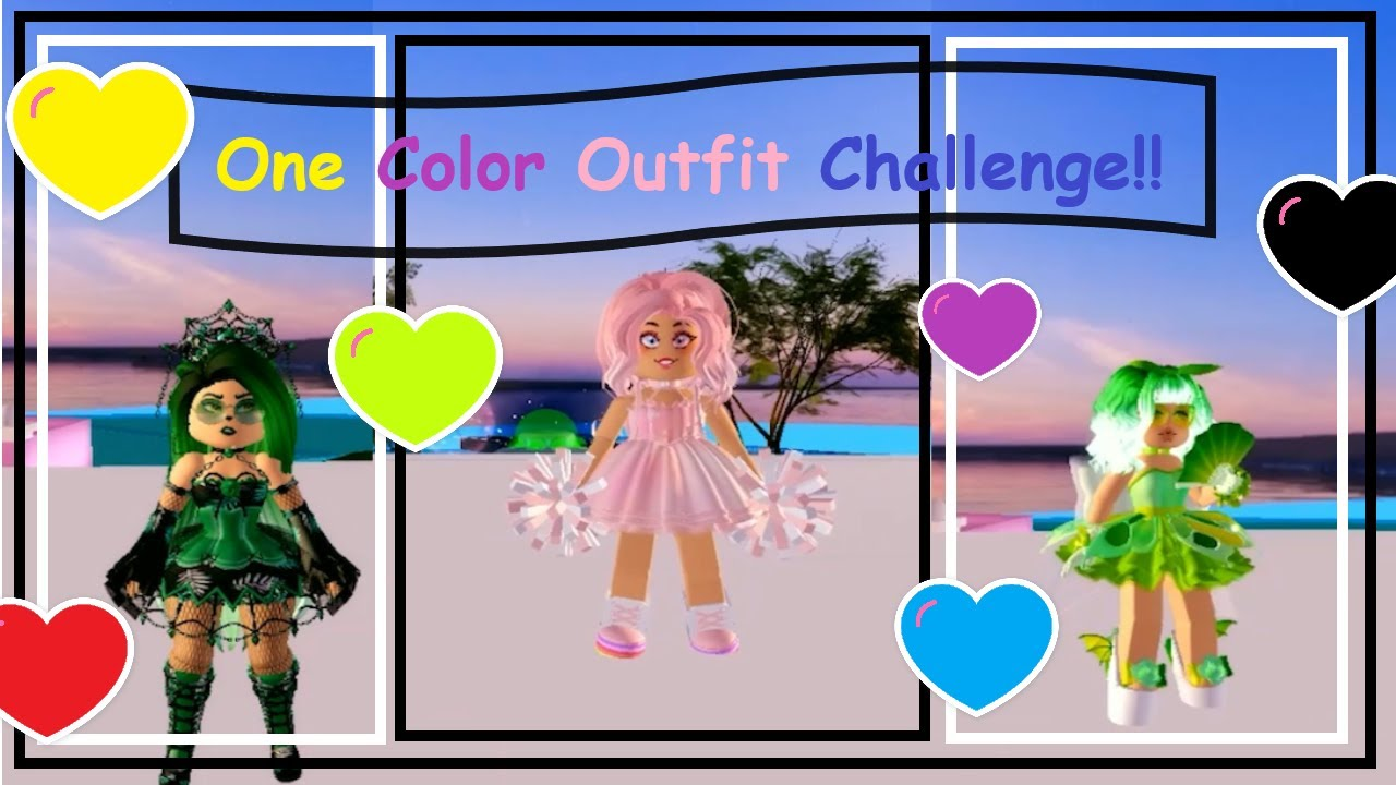 I Tried The One Color Outfit Challenge In Royale High Roblox One Color Outfit Challenge Royale High Roblox Outfit Diaries Youtube
