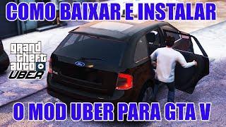 Como baixar e instalar MOD Uber para GTA V 2018