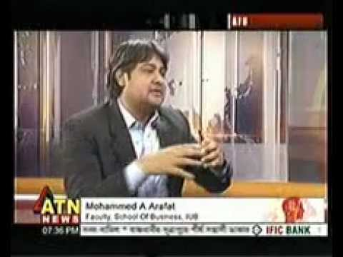 Mohammad A Arafat in English talk Show on political affairs.
