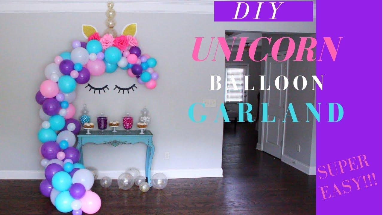 Unicorn Balloon Garland Tutorial Diy Unicorn Lashes Horn Ears