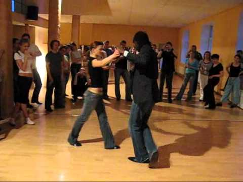 French Salsa Tango couple on 1 (with music)