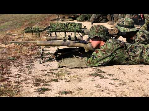 JGSDF, 1st Marine Division Schools conduct shooting drills