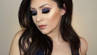Easy blue smokey eye makeup tutorial