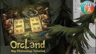 Рисуем Ёлки. Видео урок Photoshop | OrcLand