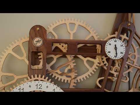 wood gear clock 6
