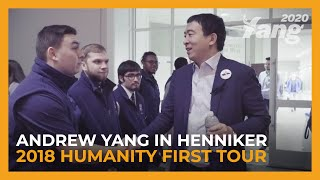 Andrew Yang in Henniker, NH | 2018 Humanity First Tour