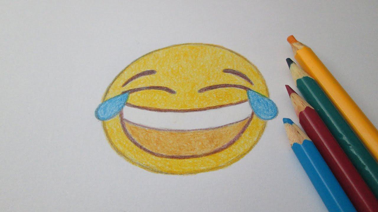 Cómo Dibujar Emoticon Llorar Riendo Whatsapp Youtube