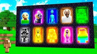20 NEW MINECRAFT DIMENISONS! (Dame Tu Cosita, Rainbow Steve, Granny Horror, Thanos, Baldi