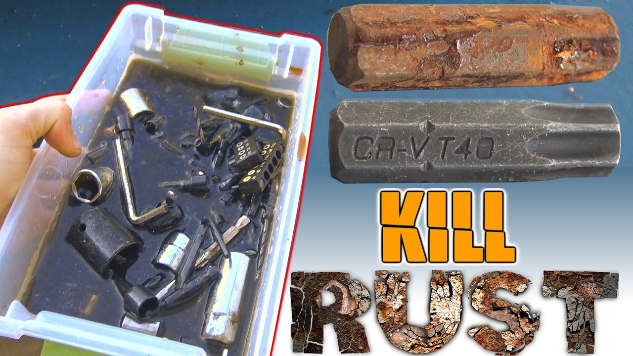How To Remove Rust From Tools W Le Cider Vinegar Clean Off Rusty Sockets Metal Drill Bits You