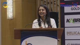 Mrs. Khushboo Doshi at IndiaPlast 2019 Rajkot Roadshow addressing the guest