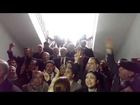 TUNISIA: Parliamentarians Sing National Anthem During Lockdown