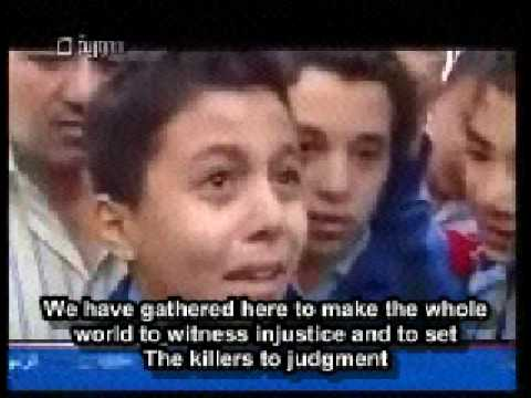 A Syrian Boy Speaks His Mind in a Pro-Gaza Protest in Syria