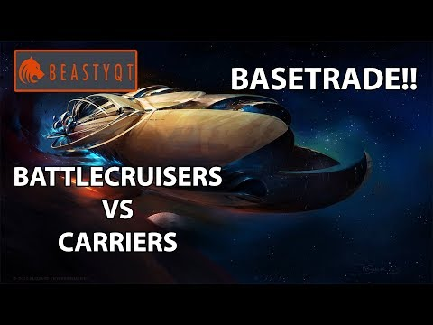 StarCraft 2: BATTLECRUISERS VS CARRIERS BASETRADE?!