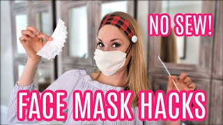 DIY *NO SEW* FACE MASK UPGRADES! (so they won't hurt!)