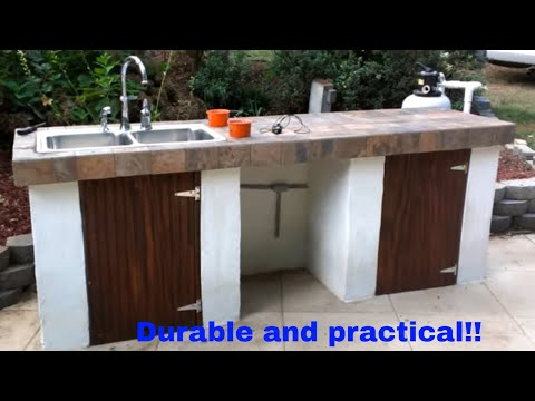 Outdoor kitchen construction full project