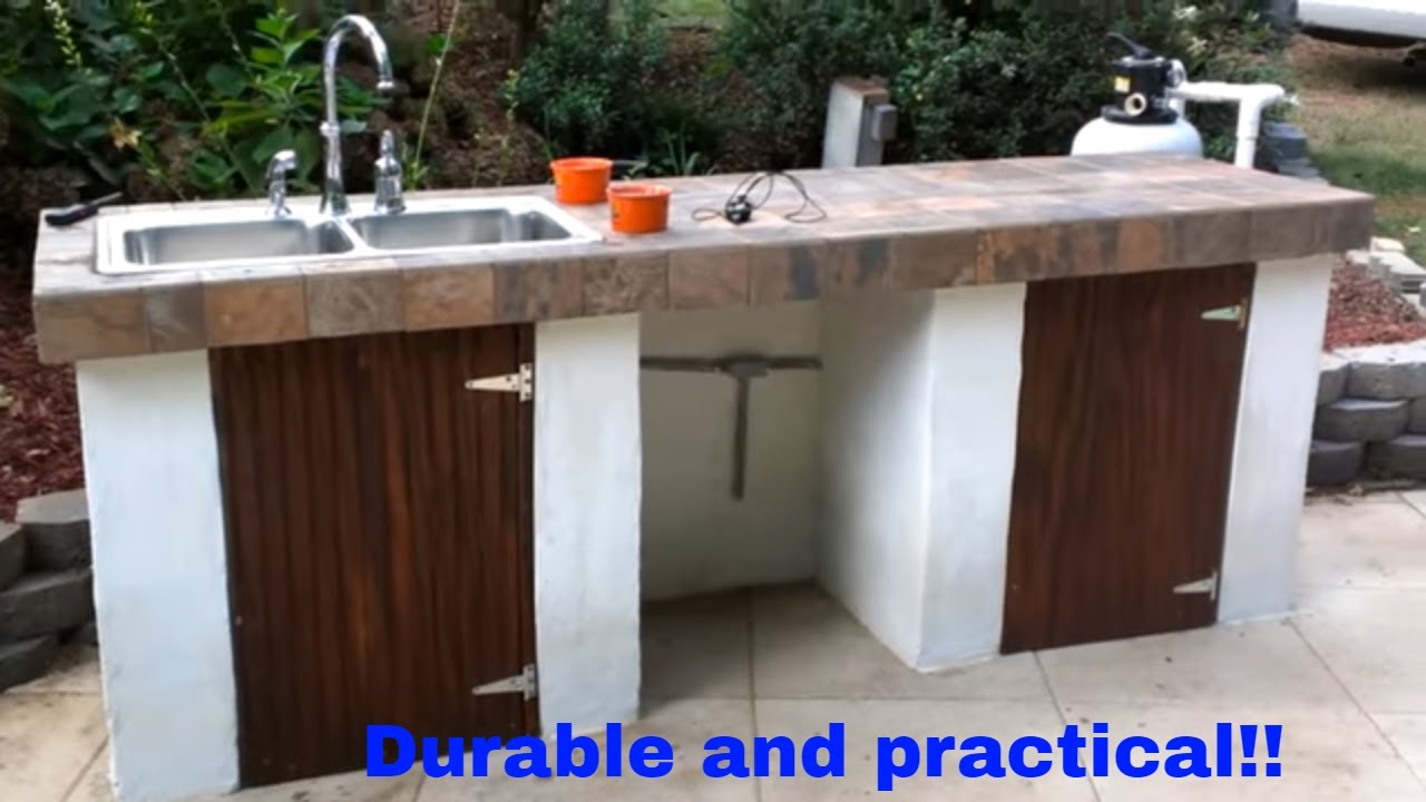 Outdoor Grilling Bar Construction : Outdoor kitchen construction full project youtube