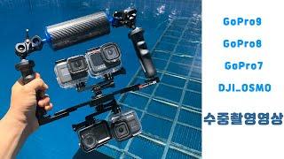 고프로9,8,7,오즈모 액션카메라 수중비교영상