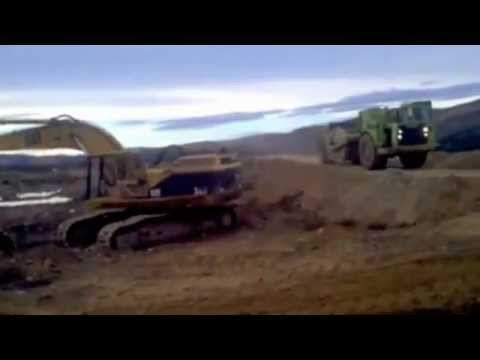 Klondike Gold Corp. - placer mining operations at Indian River 2012, part 1