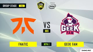 Fnatic vs Geek Fam (игра 1) BO3 | ESL One Los Angeles | Online