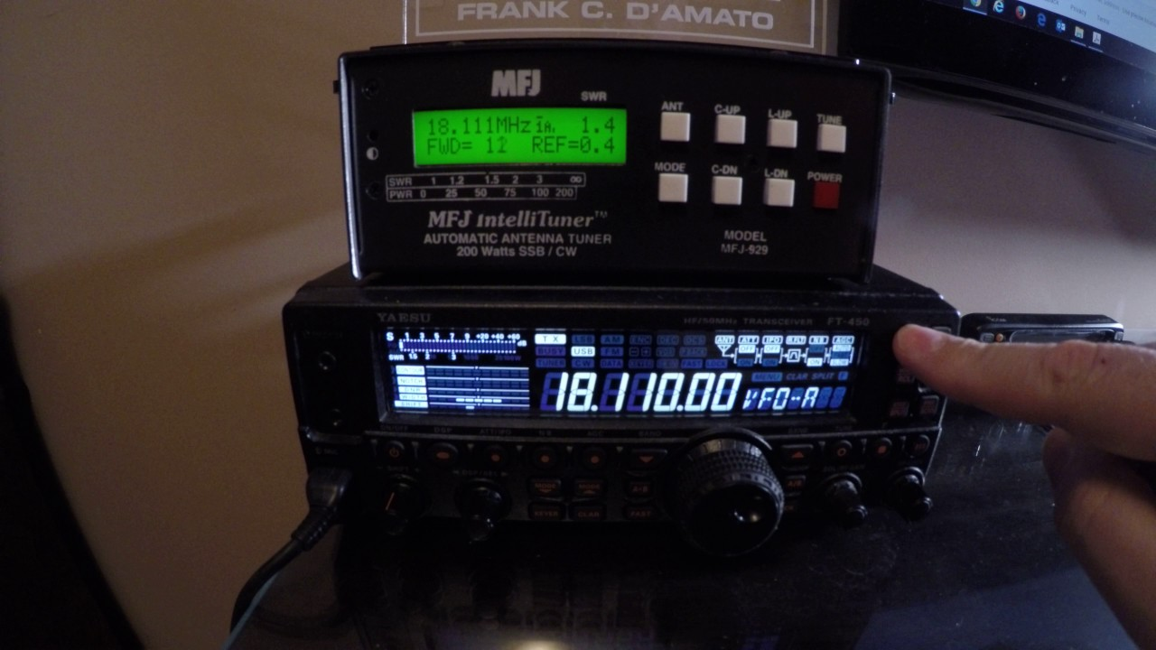 FT-450 with MFJ-929 Automatic Antenna Tuner