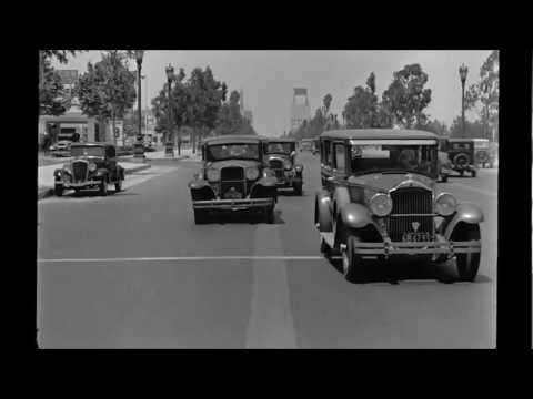 Driving Through Beverly Hills, 1935, HD