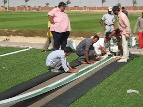 Construction Of An Artificial Turf Football Field In Egypt