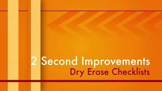 Dry Erase Checklist 2 Second Improvement