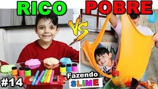 RICO VS POBRE FAZENDO AMOEBA SLIME #14