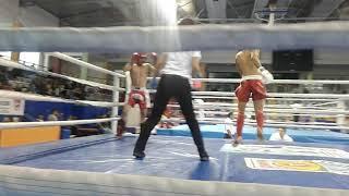 Gambar cover Uluslararası kick boks lowkick 60 kg yarı final K.O mavi köşe : İzzettin altunsöz