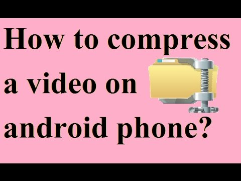 How to compress large files to small size on android in Hindi/Urdu