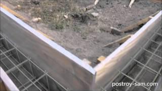 Армирование ленточного фундамента стеклопластиковой арматурой(Как я делал армирование ленточного фундамента стеклопластиковой арматурой. Пример армирования фундамента..., 2015-02-12T00:43:47.000Z)